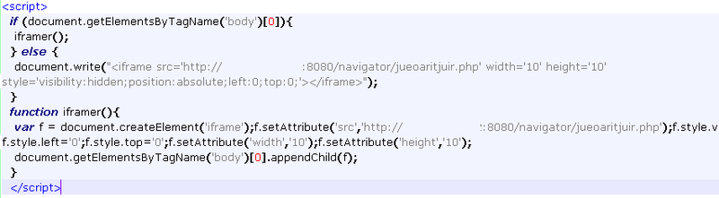 De-obfuscated code