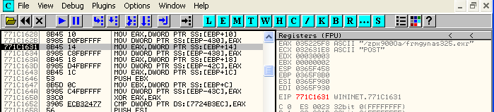 "Figure 3: Zeus hooks on ""Explorer.exe"" process and accesses its C&C server"