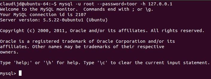 Ubuntu 64-bit - standard login