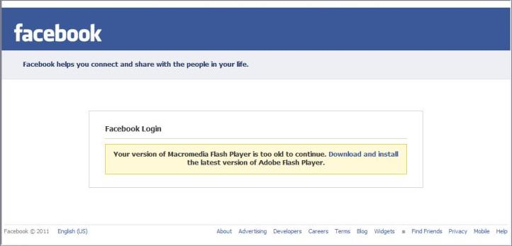 Figure 2: Phony Facebook page manipulates the user to download the bot