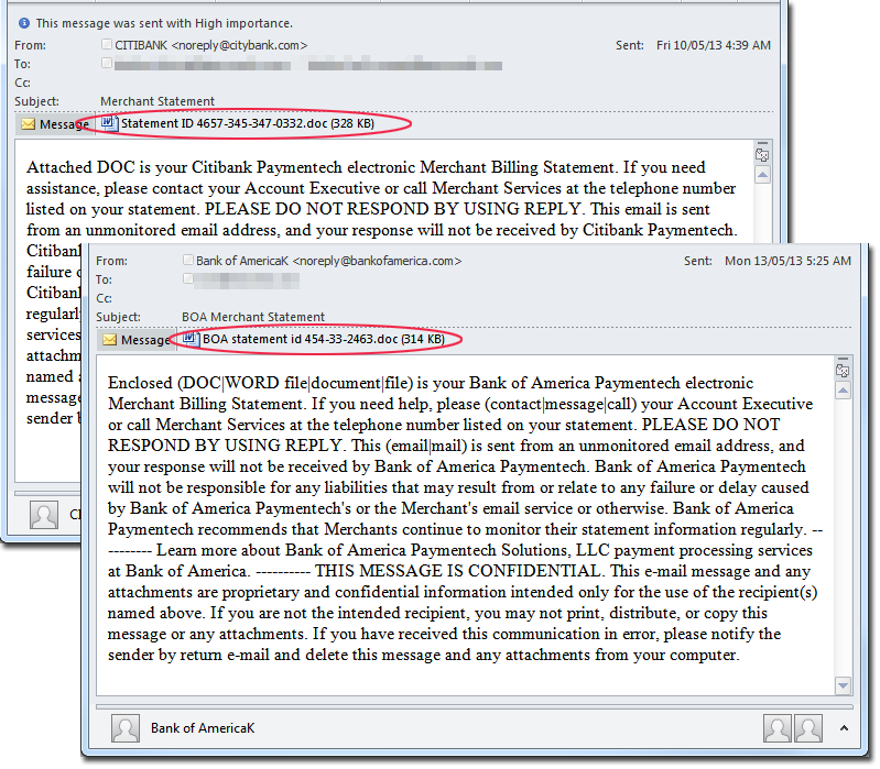 Analysis of Malicious Document Files Spammed by Cutwail