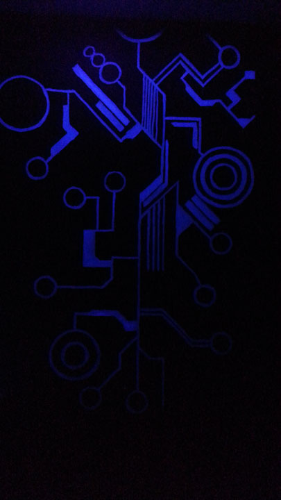 4 mural wall black light