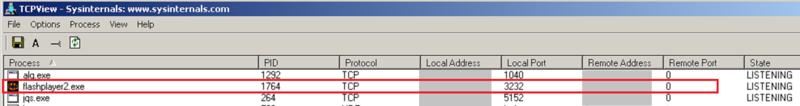 3listenning port 3232