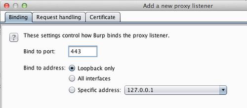 New Proxy Listener