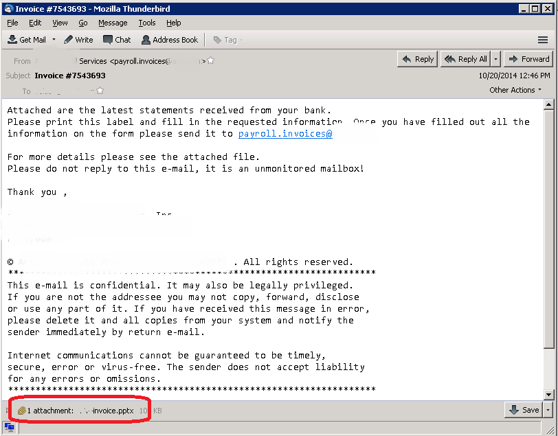 Powerpoint Vulnerability (CVE-2014-4114) used in Malicious Spam