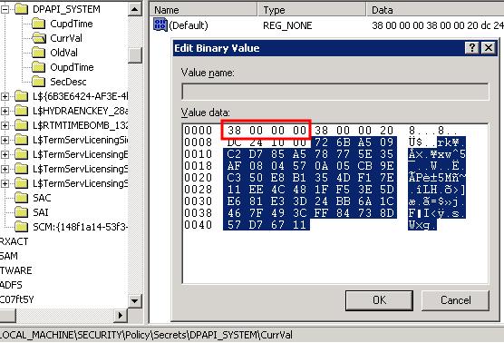 Dumping LSA Secrets on NT5 x64