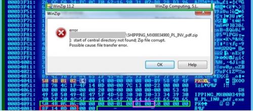 WinZip 11.2 error prompt