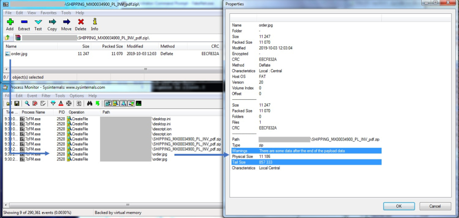 7Zip extracted the image file