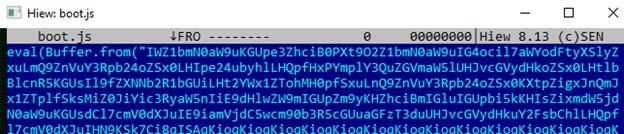The boot.js sample from VirusTotal