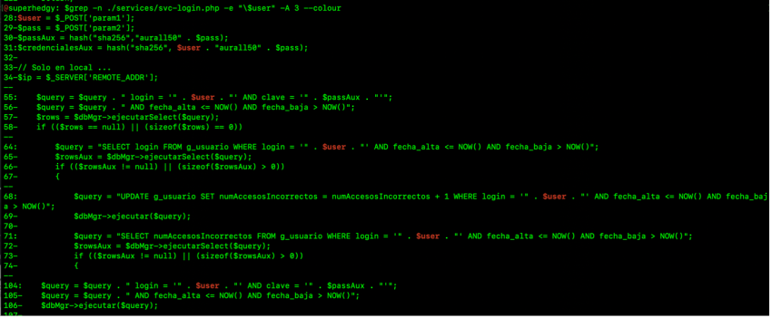 Grep Command 2 - Screenshot